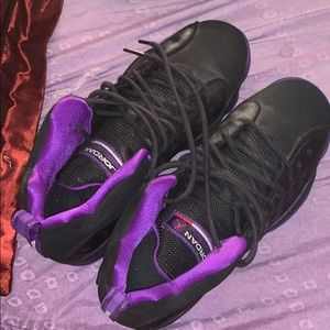 Other - purple and black jordan's